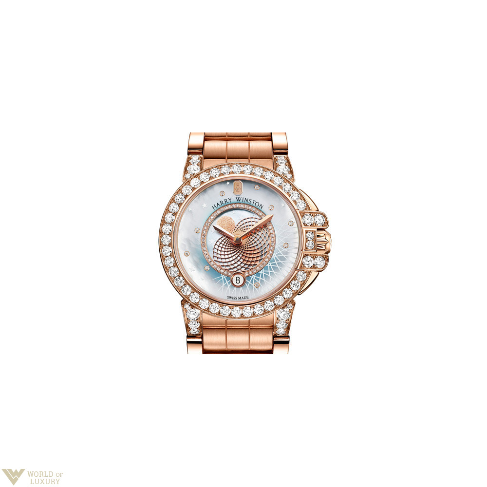 Harry Winston Ocean Lady Rose Gold Ladie...