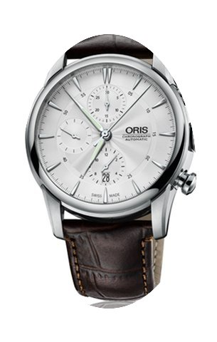 Oris Artelier Chronograph Leather Stainl...