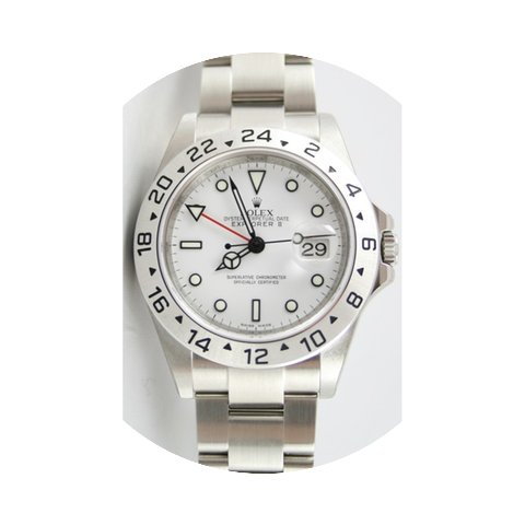 Rolex Explorer II 16570 White Face No Ho...
