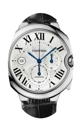 Cartier BALLON BLEU WHITE GOLD CHRONOGRA...