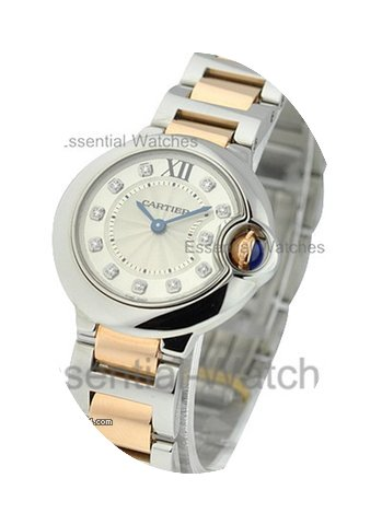 Cartier Ballon Bleu Small Size with Silv...
