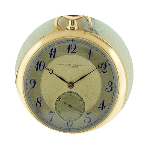 Gübelin 18k Rose Gold Pocket Watch Pre-...