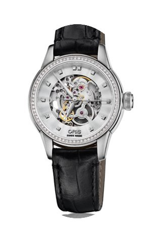 Oris Artelier Skeleton Diamonds Steel 31...