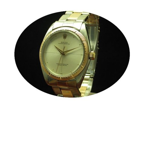 Rolex Oyster Perpetual 14kt 585 Rot Gold...