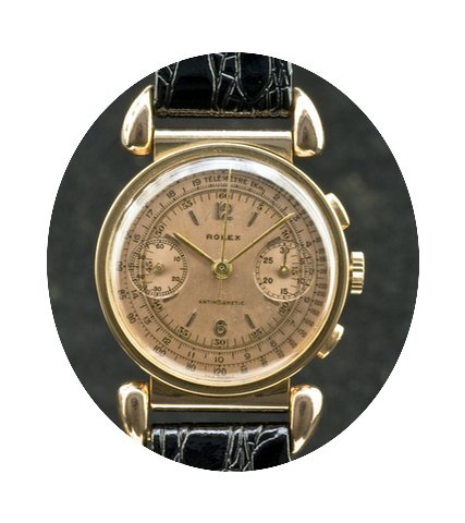 Rolex Chronograph rose gold pink dial re...