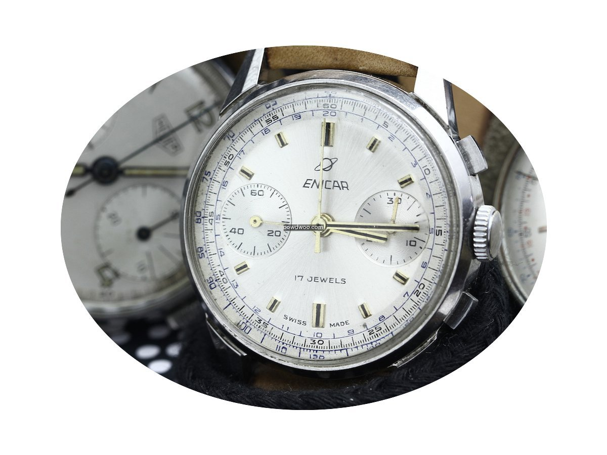 Enicar Chronograph 17 Jewels...