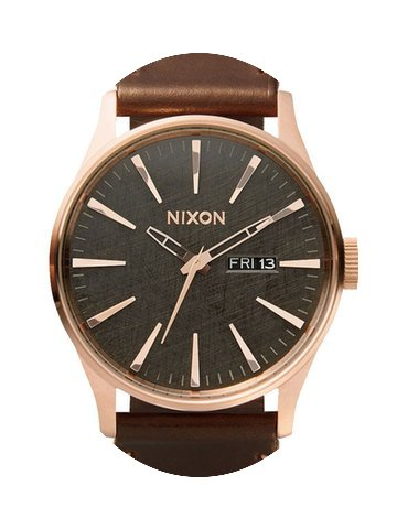 Nixon A105-2001 Sentry Leather Rose Gold...