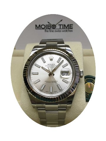 Rolex Datejust II Silver Index Dial Whit...