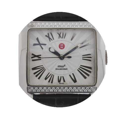 Michele MW2 Stainless Steel Diamond Watc...