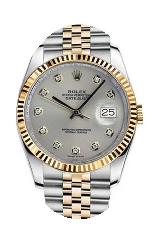 Rolex New Style Datejust Two Tone Fluted...