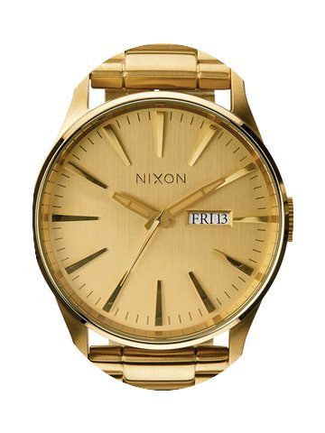 Nixon A356-502 Sentry SS All Gold 42mm 1...