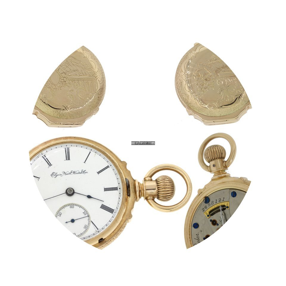 Elgin Solid 14k Gold 15J Hunter Pocket W...
