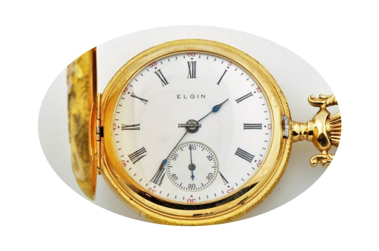 Elgin Diamond 14k Tri Color Gold Pocket ...