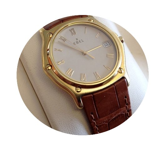 Ebel 1911 Classic Wave Yellow Gold Beige...