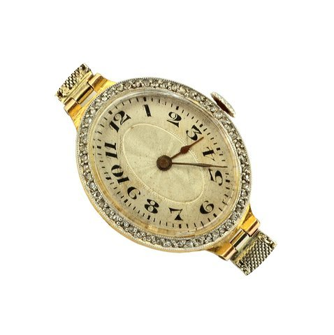Anonimo Ladies Art Decò gold diamond 19...
