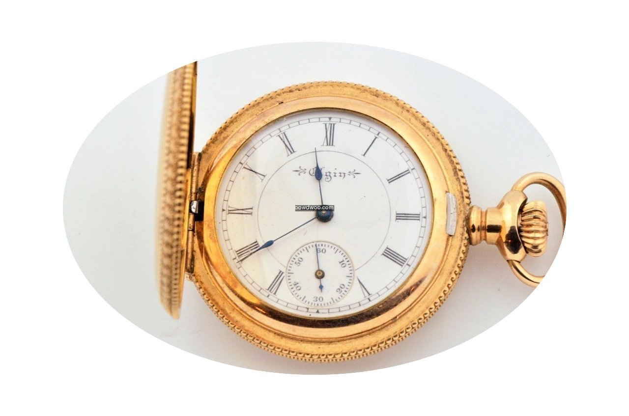 Elgin Gold Filled White Dial Pocket Watc...