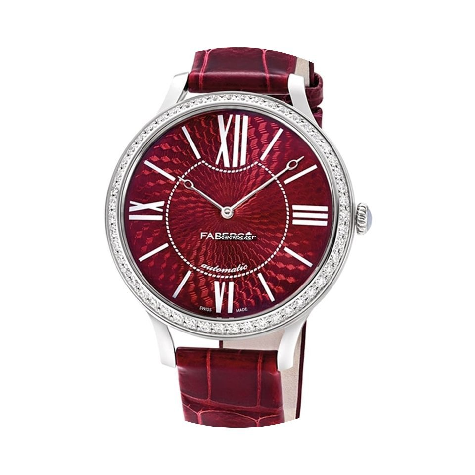 Fabergé White Gold Flirt 39mm - Red Dia...