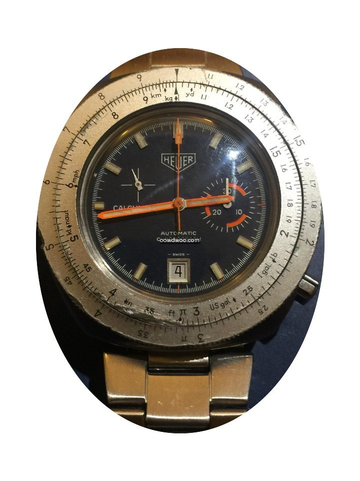 Heuer Calculator Automatico Chronograph ...
