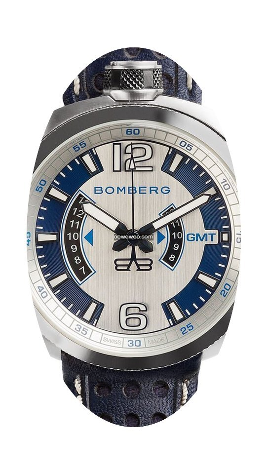 Bomberg Bolt-68 GMT Blue BS45GMTSS.002.3...