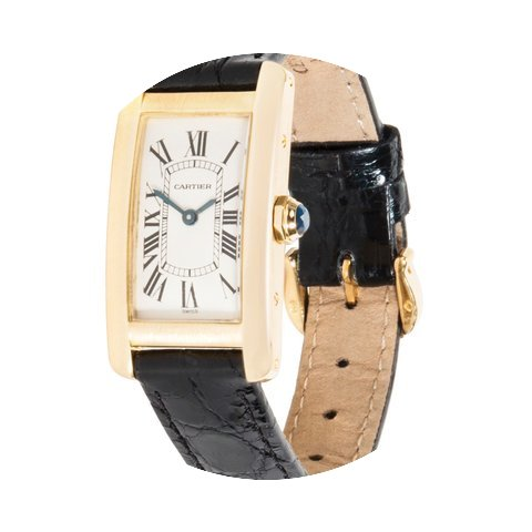 Cartier Tank Americaine 18K Yellow Gold ...