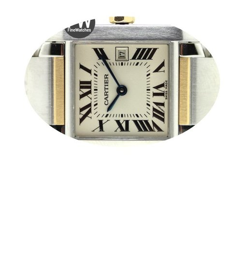 Cartier Tank Francaise Midsize Steel &am...