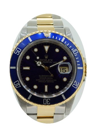 Rolex 16613 Submariner Blue...