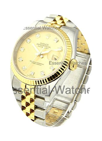 Rolex Used Men''s 2 Tone DATEJUST with J...