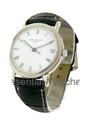 Patek Philippe Men's White Gold Calatrav...