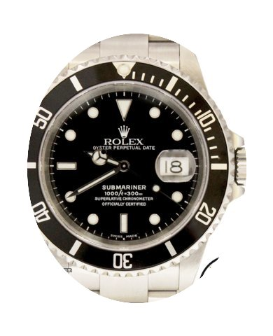 Rolex Submariner Automatic SS Black Dial...