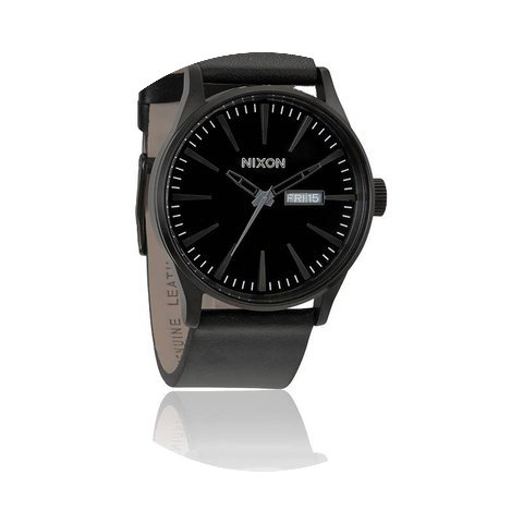 Nixon The Sentry Leather All Black...