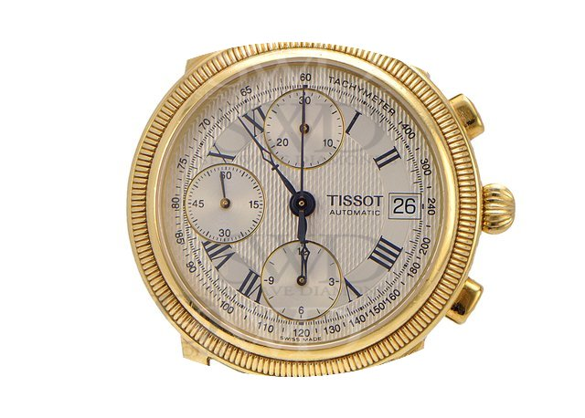 Tissot BRIDGEPORT T71343533 18k Yellow G...