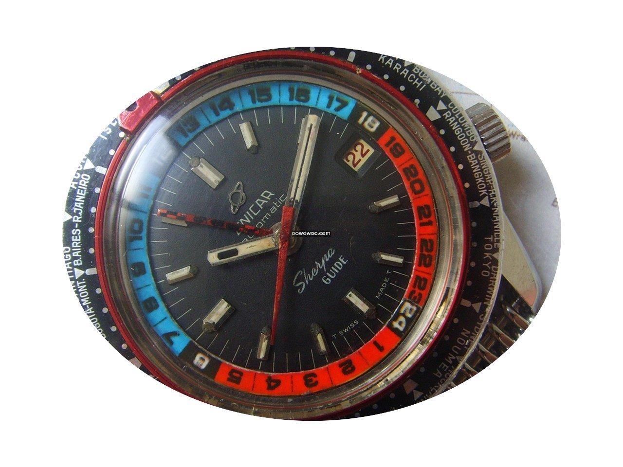 Enicar 1960s GMT Sherpa Guide 600 with M...