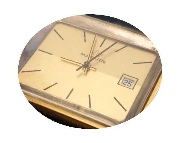 Marvin Gold Plated Mechanical 17J Date M...