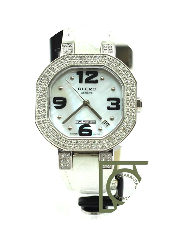 Clerc c-one mother of pearl white diamon...