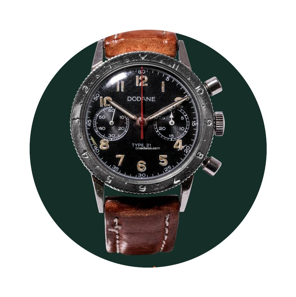 Dodane Type 21 flyback military valjoux ...