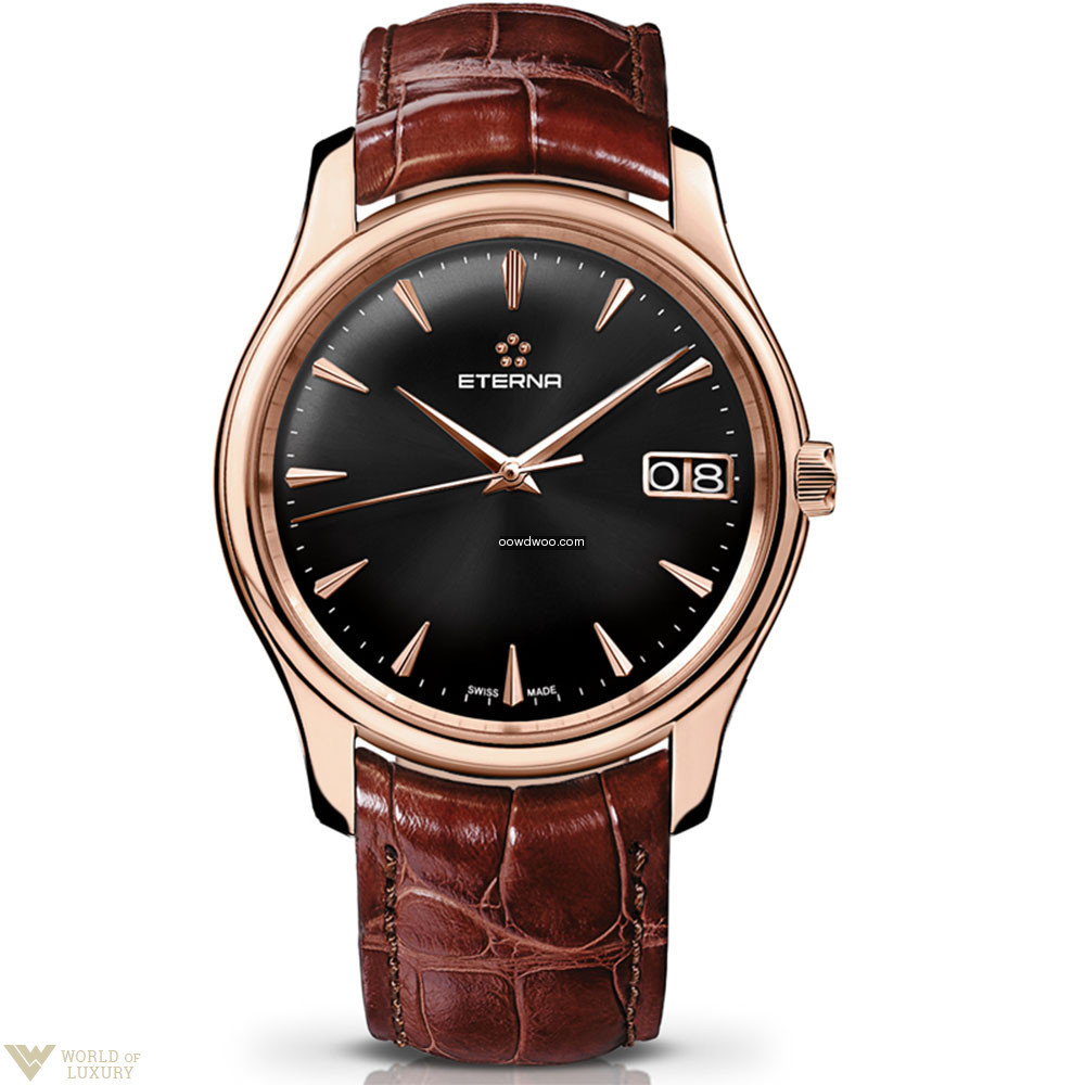 Eterna Vaughan Big Date 18K Rose Gold Me...