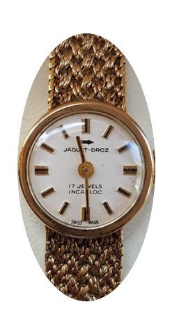 Jaquet-Droz Vintage Solid Gold Woman 9K...