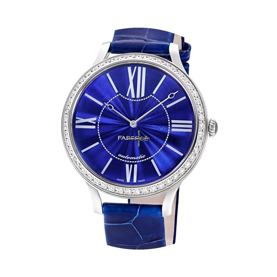 Fabergé White Gold Flirt 39mm - Blue Di...