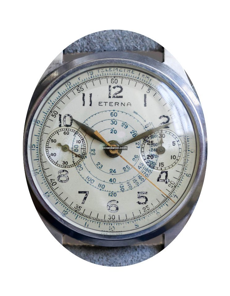 Eterna Vintage Two-tone Telemeter Chrono...