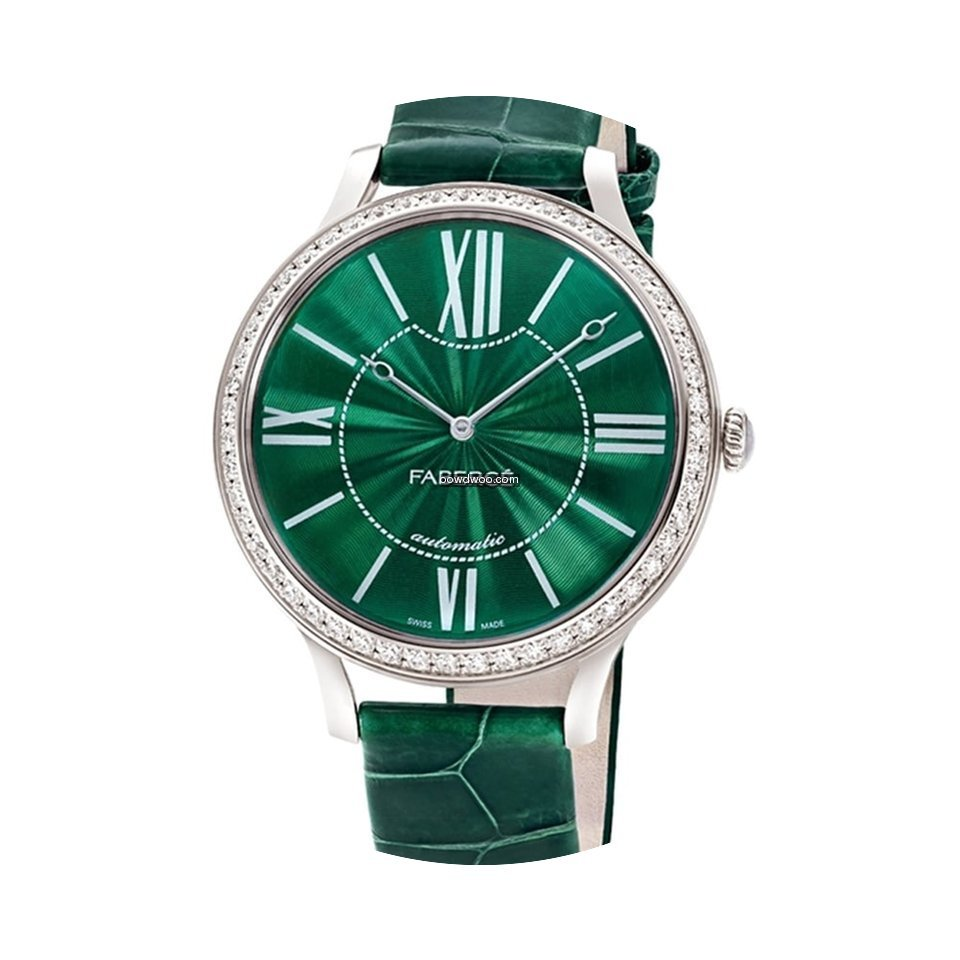 Fabergé White Gold Flirt 39mm - Green D...
