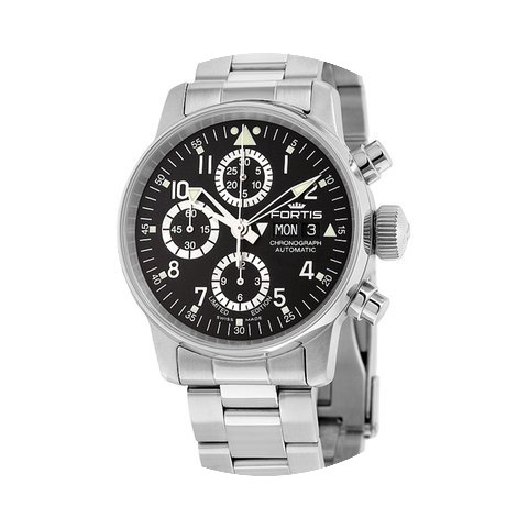 Fortis Flieger Classic Chronograph Black...