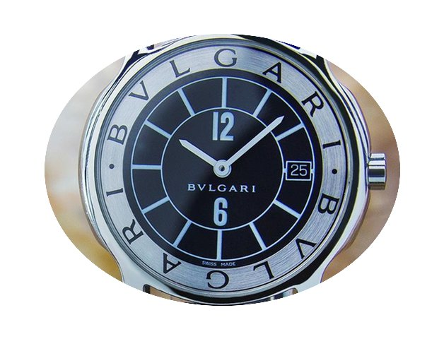 Bulgari St35s Luxury Mens Size Swiss Sol...