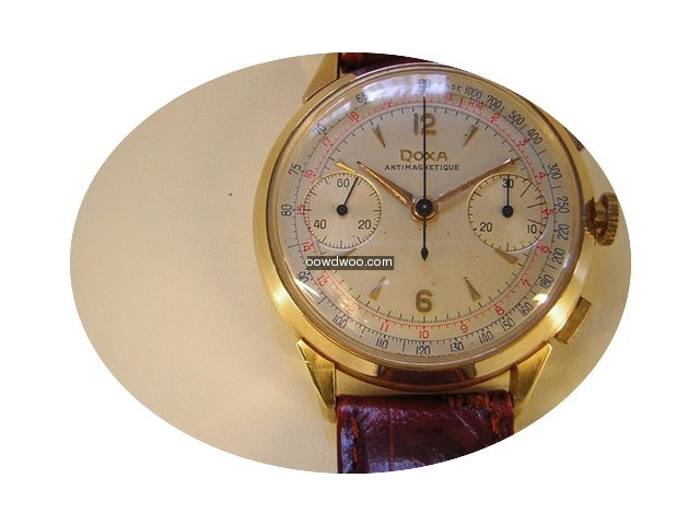 Doxa Vintage Chronograph in 18k Gold, or...